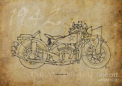 Indian 640b 1942 Art Print by Pablo Franchi
