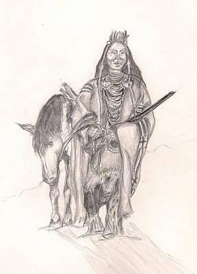 Indian And Horse Original