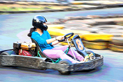 Go Kart Wall Art - Photograph - Indian Answer To Penelope Pitstop by Kantilal Patel