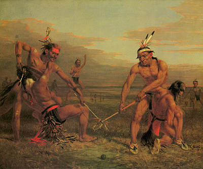 Dea Painting - Indian Ball Game by Charles Deas