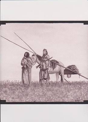 Indian Blackfoot Travis Art Print by Billie Bowles
