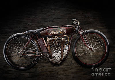 Indian Board Track Racer Art Print