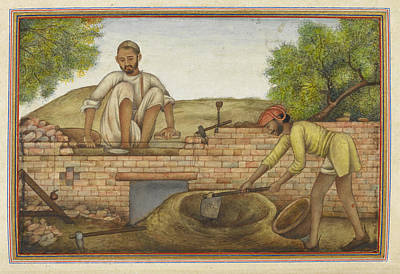Indian Bricklayer Art Print by British Library