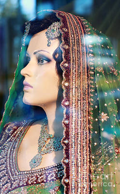 Photograph - Indian Bride Mannequin by Charline Xia