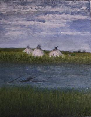 Painting - Native American Camp by Larry Lamb