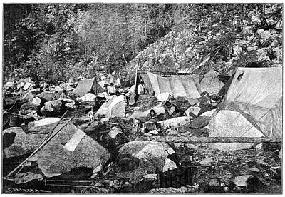 Gold Rush Photograph - Indian Camp by Science Photo Library