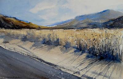 Tumbleweed Painting - Indian Canyon Blues 2 by Sandra Strohschein