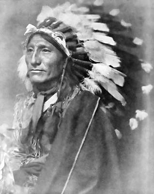 Indian Wall Art - Photograph - Indian Chief - 1902 by Daniel Hagerman
