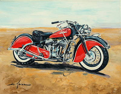 Painting - Indian Chief 1948 by Luke Karcz