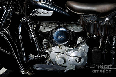Indian Chief Blackhawk Engine Art Print by Frank Kletschkus
