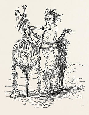 Indian Chief Drawing - Indian Chief, Us, Usa by American School