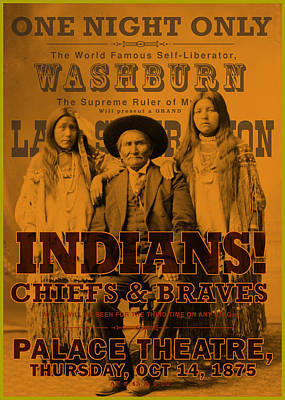 Indian Chiefs And Braves Art Print by Gary Grayson