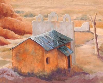 Indian Cliffs Church Art Print