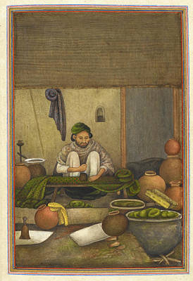 Indian Cloth Printer Art Print by British Library