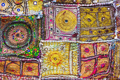 Embroidered Photograph - Indian Cloth by Tom Gowanlock