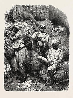Indian Cotton Operatives Art Print by Indian School