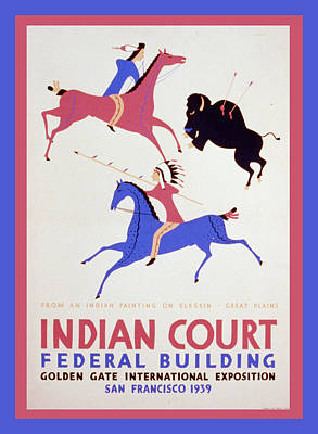 Indian Court Print by Unknown