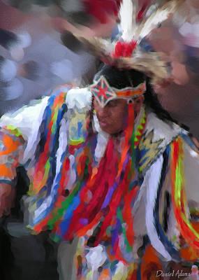 Da121 Indian Dance By Daniel Adams Art Print