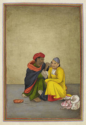 Indian Earpicker Art Print by British Library