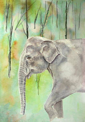 Painting - Indian Elephant by Elizabeth Lock