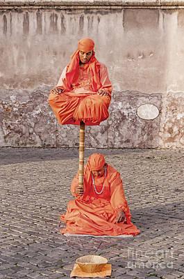 Indian Fakir Street Performers Art Print by Antony McAulay