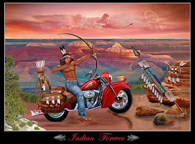 Indian Forever Art Print by Glenn Holbrook