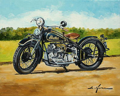Painting - Indian Four 1933 by Luke Karcz