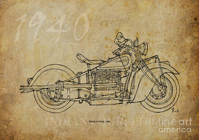 Indian Four 1940 Art Print by Pablo Franchi
