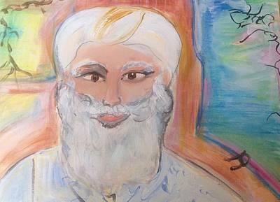 Indian Guru Painting - Indian Guru by Judith Desrosiers