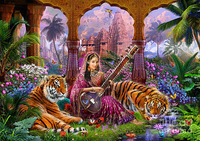 Indian Wall Art - Digital Art - Indian Harmony by MGL Meiklejohn Graphics Licensing