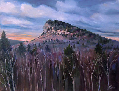 Painting - Indian Head In Lincoln New Hampshire by Nancy Griswold