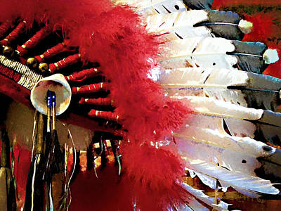 Pow Wow Photograph - Indian Headdress by Julie Palencia