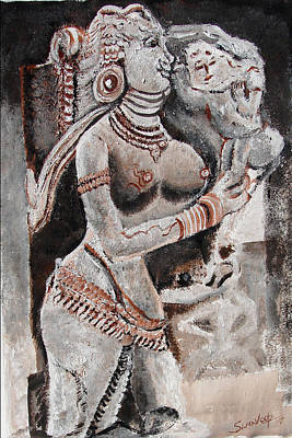 Painting - Indian Heratage-3 by Anand Swaroop Manchiraju