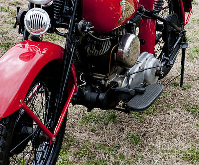 Photograph - Indian Historic American Bike by Wilma  Birdwell