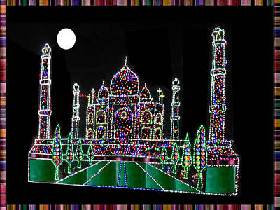 Mixed Media - Indian Historical Architectural Fame Palaces Buildings Masjids Mughal Moughal Empire Heritage Of Ind by Navin Joshi