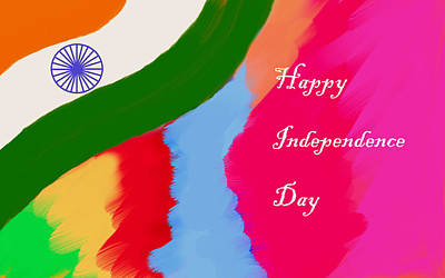 Indian Independence Day Art Print