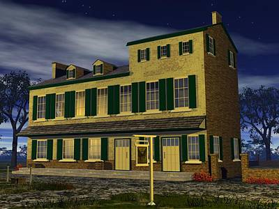Digital Art - Indian King Tavern - 1750 by John Pangia