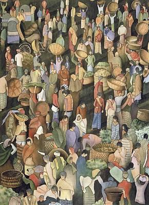 Indian Market Art Print