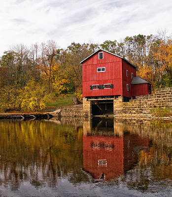 Grist Mill Photograph - Indian Mill Upper Sandusky Ohio by Brian Mollenkopf