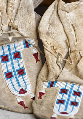 Photograph - Indian Moccasins by Stephen Anderson