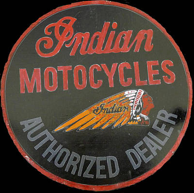 Painting - Indian Motocycle Dealer by Richard Le Page