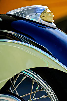 Photograph - Indian Motorcycle Fender Emblem by Jill Reger