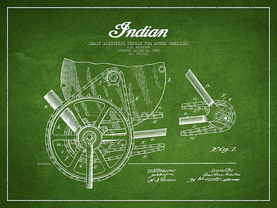 Indian Motorcycle From 1902 Art Print by Aged Pixel