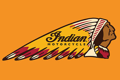 Photograph - Indian Motorcycle Logo by Carlos Diaz