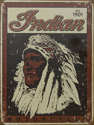 Photograph - Indian Motorcycle Poster by Wes and Dotty Weber