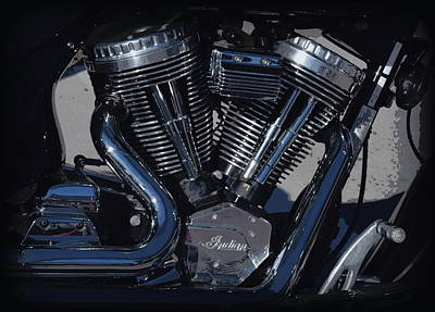 Photograph - Indian Motorcycle Up Close by Sheri McLeroy