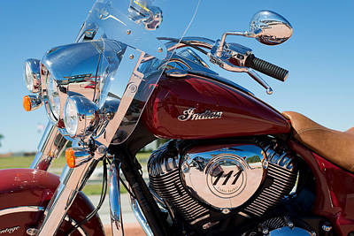 Indian Motorcycle Photograph - Indian Motorcycles Red by Rospotte Photography