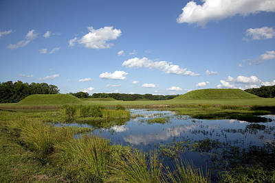 Photograph - Indian Mounds In Moundville Alabama  by Carol M Highsmith