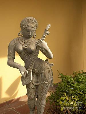 Photograph - Indian Musician Statue by Brenda Kean