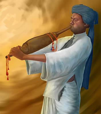Digital Art - Indian Musion by Prakash Leuva